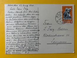 10134 - Pro Patria No 4 Giornico Bern 14.08.1940 Sur Carte - Lettres & Documents