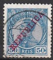 Cabo Verde, 1912 - D. Manuel II, Sobrecarga República / Afinsa 106- 50 R. - Kap Verde