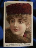 Chromo Chocolat Poulain Portrait Femme à La Toque L502 - Poulain