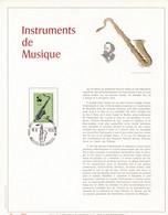 Exemplaire N°001 Feuillet Tirage Limité 500 Exemplaires Frappe Or Fin 23 Carats 1684 Adolphe Sax Saxophone Musique - Panes