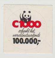 Sticker: C1000 Schenkt Het Wereldnatuurfonds 100.000,- Panda - Pegatinas