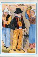 Carte Brodée, Costume Folklorique - Santons De Provence. Le MAIRE - N° 5 - NEP - Brodées