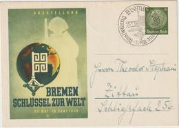 """Privatganzsache """"Bremen - Schlüssel Zur Welt"""", Gebr. - Germany"""