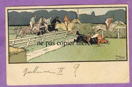 HARRY ELIOTT - Course De Chevaux Hippisme Chute Saut D' Obstacle Haie Cheval - Illustrateur - Elliot