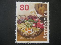 Österreich- Dispensermarke Brettljause Gestempelt - 1945-.... 2. Republik