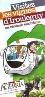 Dépliant Touristique - Visitez Les Vignes D'Irouleguy En Véhicule électrique : Agerria - Tourism Brochures