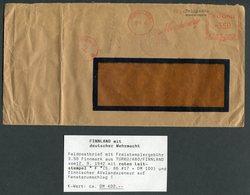 1942 Finland Turku-Abo Franking Machine Feldpost Censor Cover. Deutscher Wehrmacht. - Finnland