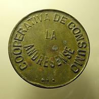Token Barcelona 10 Centimos 1929 Cooperativa De Consumo La Andresense - Spanje