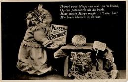 Chats Humanisé- Dressed Cats -katzen - Poezen Met Breiboek - Chats