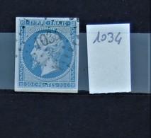 05 - 20 // France N° 14 - Oblitération PC 1034 - Le Creusot - Saône Et Loire - 1853-1860 Napoléon III
