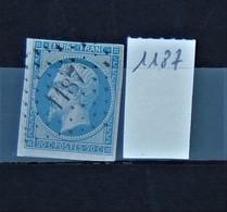 05 - 20 // France N° 14 - Oblitération PC 1187 - Epinal - Vosges - 1853-1860 Napoléon III