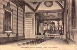 Australie, Western Autralia, New Norcia,  Public Church Interior, 1934      (bon Etat) - Australia