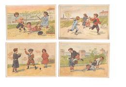 11620 - Lot De 4 Chromos Non Publicitaires : JEUX D' ENFANTS, - Chromos