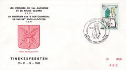 Enveloppe Cover Brief FDC Numéroté 2100 Tinekesfeesten Les Prieures De Val-Duchesse Et De Rouge-Cloitre ASBL - FDC