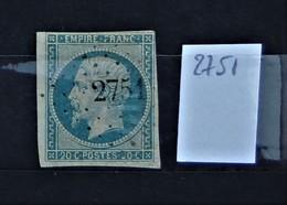 05 - 20 // France N° 14 - Oblitération PC 2751 - Roybon - Isère - 1853-1860 Napoleon III