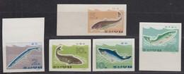 "North Korea - 1966 ""Fish"" (MNH) - Sc.## 690-694 - Lot 2 - Korea, North"