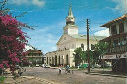 Guyane Francaise Cayenne La Cathedrale Saint Sauveur Editions Delabergerie  Cyclistes - Cayenne
