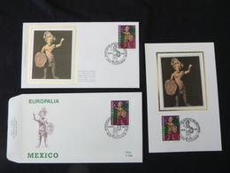 "BELG.1993 2508 FDC & Mcard Soie/zijde & FDC : "" EUROPALIA 93 ,MEXICO "" - FDC"