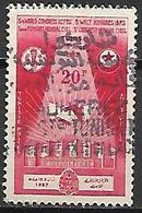 TUNISIE   -   1957 .  Y&T N° 441  Oblitéré.   Syndicats Libres - Tunisia