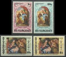 ST VINCENT 1971 - NAVIDAD - NOEL - CHRISTMAS - YVERT Nº 302/305** - St.Vincent (1979-...)