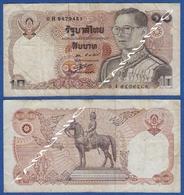 THAILAND 10 Baht 1981 KING RAMA IX And KING CHULALONGKORN ON HORSEBACK (MONUMENT) . - Thailand