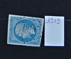05 - 20 // France N° 14 - Oblitération PC 1919  - La Mastre - Ardèche - 1853-1860 Napoléon III