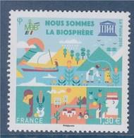 Nous Sommes La Biosphère Timbre UNESCO N°172 à 1.30€ - Dienstzegels
