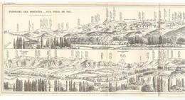 CARTE 1926 - 14,8 X 55,5 Cm - PANORAMA Des PYRÉNÉES VUE PRISE DE PAU - DESSINÉ D'APRES NATURE Par J.L. LOURDE ROCHEBLAVE - Topographical Maps