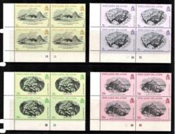 Pitcairn Islands 1979 Engravings Of The 19th Century Set As Corner Blocks Of 4 MNH - Pitcairninsel