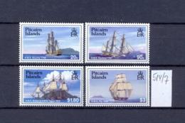 PITCAIRN - 514/7  Segelschiffe Kpl.Sa.postfr  MNH - Pitcairninsel