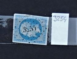05 - 20 // France N° 14 - Oblitération PC 3254 - St Poucain - Allier - 1853-1860 Napoléon III