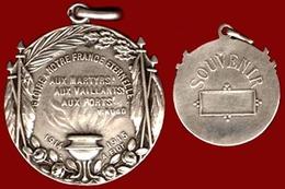 ** MEDAILLE  ARGENT  VICTOR  HUGO  -  SOUVENIR  1914 - 15 ** - 1914-18
