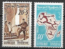 TUNISIE  -   1959  .  Y&T N° 497 / 498 ** . - Tunisia