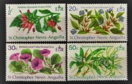 ST CRISTOPHER NEVIS ANGUILLA 1971 - FLORES - YVERT Nº 251/254** - St.Kitts E Nevis ( 1983-...)