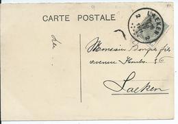 Fantasiekaart  Met OCB 81 - Afstempeling LAEKEN 2 - COBA 30 - 1893-1907 Wappen