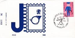 Enveloppe FDC 1511 Facteur Agent Des Postes Auvelais - 1961-70