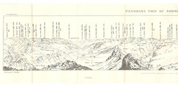 CARTE 1926 - 13 X 60 Cm - PANORAMA PRIS Du SOMMET De PIC De PIMÉNÉ 2803 Mètres - PYRÉNÉES - DESSINÉ Par FRANZ SCHRADER - Topographical Maps