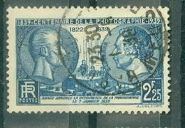 FRANCE - N° 426 Oblitéré - Centenaire De La Photographie. Effigies De J.- N. Niepce(1765-1833) Et Louis Daguerre 1787-18 - Francia