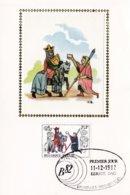 Carte FDC Soie 2071 Messager Apportant Une Lettre à L'Ost Du Roi - FDC