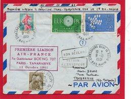 Pli De 1961 ( Première Liaison AIR FRANCE Paris -TANANARIVE Par BOEING 707) - Stamps