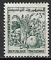 TUNISIE   -   TAXE  -   1960  .  Y&T N° 76 Oblitéré.  Fruits - Tunisia