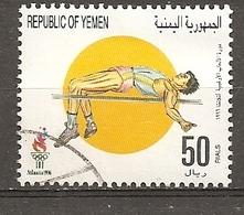 Yemen 1996 Jeux Olympiques Athletics Obl - Yemen