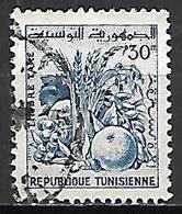 TUNISIE   -   TAXE  -   1960  .  Y&T N° 81 Oblitéré.  Fruits - Tunisia