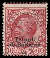 LEVANTE - Ufficio D'Africa / TRIPOLI DI BARBERIA - Francobollo D'Italia 1901/09: 10 C. Rosa Carminio - 1909 - 11. Foreign Offices