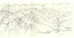 CARTE 1926 - 13,5 X 32 Cm - MASSIFS Des POSETS Et Des MONTS MAUDITS - PYRÉNÉES - DESSINÉ Par FRANZ SCHRADER - Topographical Maps