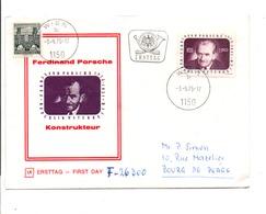 AUTRICHE LETTRE FDC 1975 FERDINAND PORSCHE - FDC