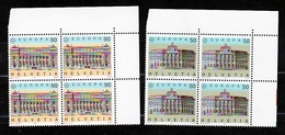 1990 Svizzera Switzerland EUROPA CEPT EUROPE Serie Di 2v. In Quartina MNH** Edifici Postali Post Office Bl.4 - 1990