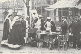 France -Crue De La Seine - 1910 - Poste De La Croix Rouge - Cruz Roja