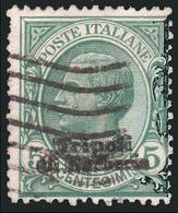 LEVANTE - Ufficio D'Africa / TRIPOLI DI BARBERIA - Francobollo D'Italia 1901/09: 5 C.  Verde Azzurro (81) - 1909 - 11. Foreign Offices