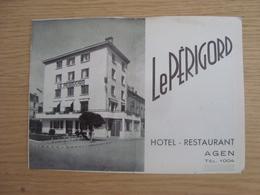 DOCUMENT PUBLICITAIRE HOTEL RESTAURANT LE PERIGORD AGEN - Publicidad